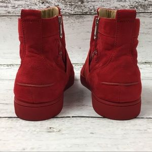 buy popular 0a1d6 b183a Christian Louboutin red suede sneakers, size 47